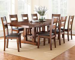 Counter Height Dining Room Table Sets Steve Silver Zappa 9 Piece Dining Room Set In Medium Cherry