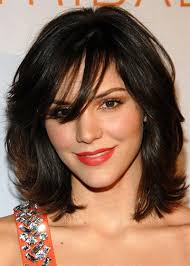 25 modern medium length haircuts with bangs layers for thick