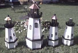 miniature lighthouse yard ornament