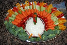 turkey vegetable tray thanksgiving giving thanks