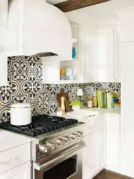 Small Kitchen Remodel Featuring Slate Tile Backsplash by Stylish Backsplash Pairings Kitchens Cement And Black