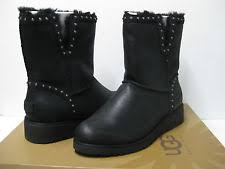 womens leather boots size 12 ugg s cyd black leather boots size 12 ebay