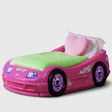 very cute pink convertible car beds for girls toddlers bedroom