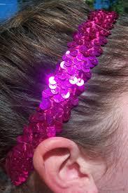 pink headbands sequin headbands