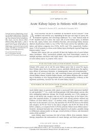 acute kidney injury in patients with cancer renal function