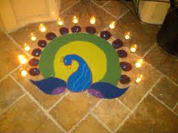 rangoli for diwali 2011 that i made o colours pinterest