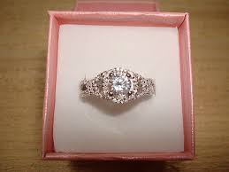 size 6 engagement ring gorgeous cut white sapphire 925 sterling silver halo