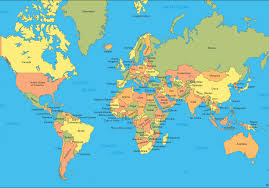 gabon in world map map world map countries major tourist attractions maps
