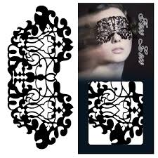 paper cut mask lace eye makeup beautifully patterned face stickers