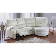 collection sorrento leather recliner right corner sofa cream