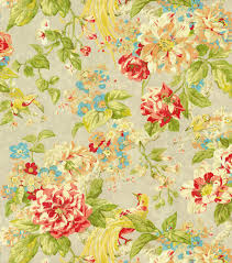 upholstery fabric waverly floral engagement poppy fabric