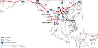 maryland map map of maryland