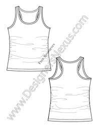 v6 racerback tank knit fashion flat sketch templates designers nexus