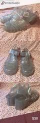 glittery clear juju jellies heels juju jellies ankle strap