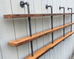 iron pipe shelf etsy