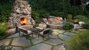 stone patio should you use flagstone or pavers in your backyard patio design
