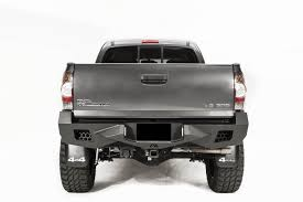 toyota tacoma blacked out vengeance rear bumper fab fours