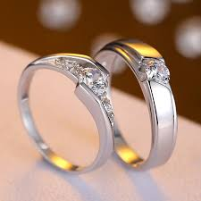 wedding rings for couples cubic zirconia diamond eternity promise rings for couples