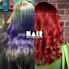 transformation vivid to red again career modern salon