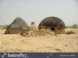 thar desert village in the thar desert rajasthan image
