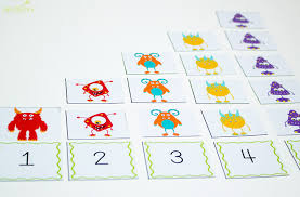 4 free silly monster printables for counting to 10