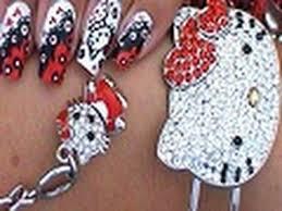 hello kitty nail art design tutorial youtube