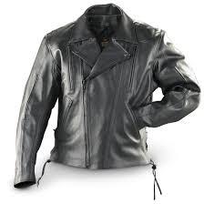 black leather biker jacket guide gear concealment leather biker jacket black 150790