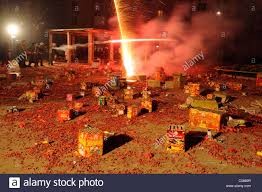 fireworks lantern china debris from used fireworks are seen at a community in the