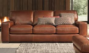 Natuzzi Brown Leather Sofa Natuzzi Campbell Top Grain Leather Sofa Haynes Furniture