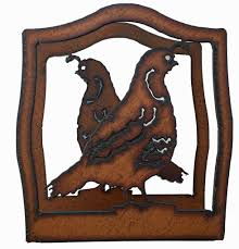 southwestern home decor rustic metal quail napkin holder napkin