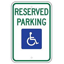 Signage For Comfort Rooms Amazon Com Federal Handicap Parking Sign R7 8 12