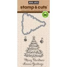 hero arts stamp u0026 cut christmas tree