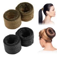bun scrunchie 2 pack magic hair scrunchie tie band ponytail bun accessories