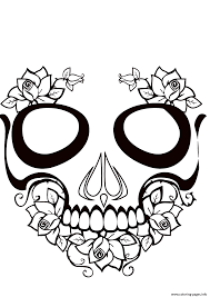 sugar skull calavera coloring pages printable