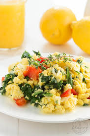 How To Make Really Good Scrambled Eggs Kale Egg And Cheese Scramble Spoonful Of Flavor