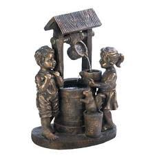 Wishing Well Garden Decor Two Children Wishing Well Water Fountain Garden Yard Decor
