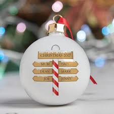 personalised christmas decorations family home decor 2017