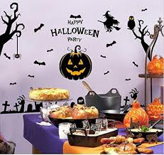 online get cheap fox nursery decor aliexpress com alibaba group happy halloween party wall decals tree ghost pumpkin stickers pvc removable wall stickers nursery decor halloween