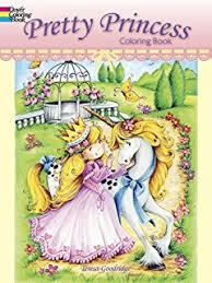 princess coloring book dover coloring books eileen rudisill