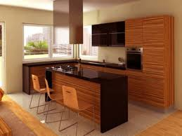 light blue cherry wood kitchen island small kitchen apartment