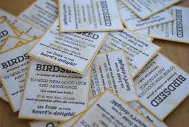 bird seed wedding favors diy for the birds with downloadable template now including rice
