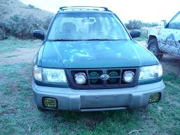 rally subaru forester sf rally light horns grill intergration skidplate uel and more