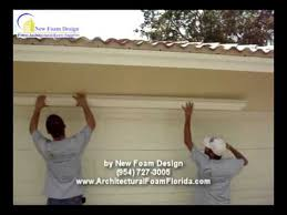 Stucco Decorative Moldings How To Install Architectural Foam In Your House Youtube