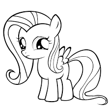 beautiful my little pony fluttershy coloring pages with fluttershy