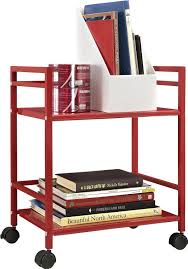 Kitchen Utility Cart by Red 2 Shelf Metal Rolling Utility Cart Red Finish Office Kitchen