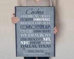 Dallas Cowboys Wall Decor Cowboy Fan Etsy
