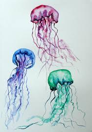 jelly fish watercolor on deviantart art pinterest jelly fish