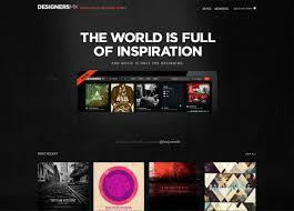 Dark website design example Designers MX Websites