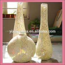 home ornament decor crackle glass mosaic mirror vase buy glass