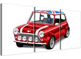 Union Jack Home Decor Mini Cooper Union Jack Canvas Split 3 Part 3277 401344200491